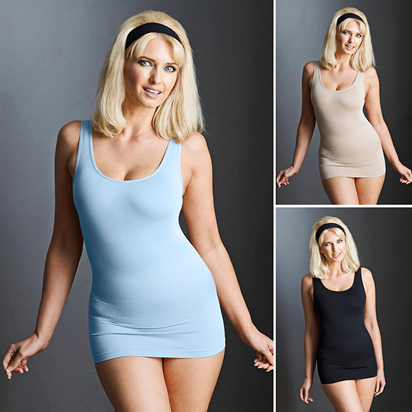 Bella Bodies Shaping Camyz (3 Pack) Black/Sand/Babyblue