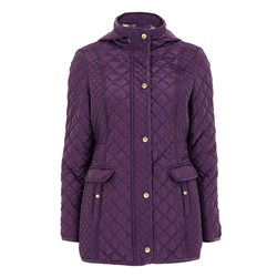 Bonmarche Quilted Coat with Printed Lining
