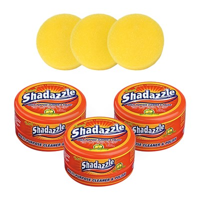 Three Shadazzle Natural Cleaner and Polish with Three Extra Applicators for Shadazzle