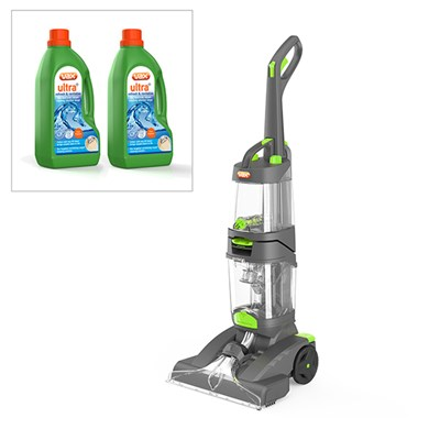 Vax Dual Power Pro Advance Carpet Cleaner with Vax UltraPlus 2 x 1.5LCarpet Cleaning Formula