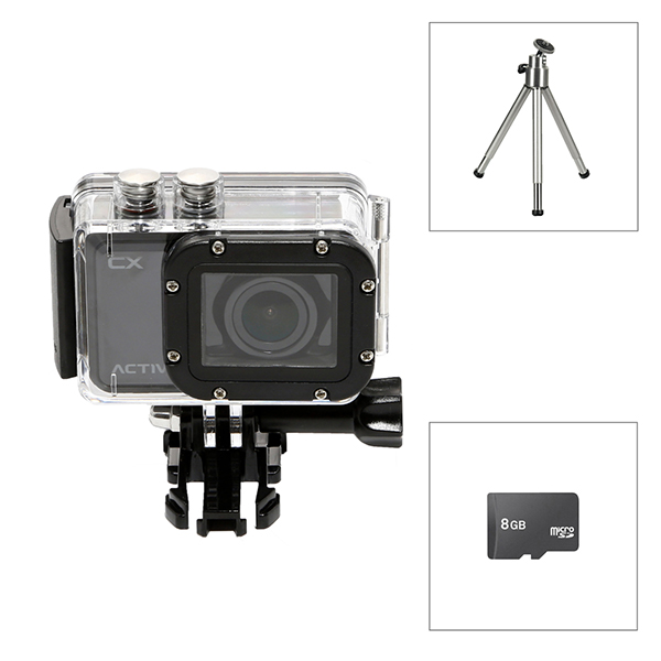 Activeon CX + 8GB Micro SD & Mini Tripod