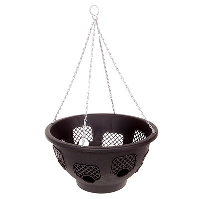 14 inch Large Easy Fill Hanging Basket with 8 Gates