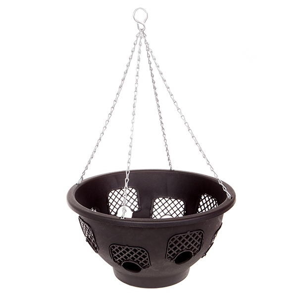 Image of 14 inch Large Easy Fill Hanging Basket with 8 Gates