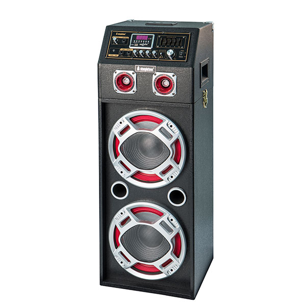 Modular Floor Box System with Laser Light Radio, Bluetooth, Mic Input, Guitar, Aux & USB/SD MP3 Playback No Colour