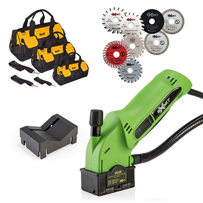 Exakt EC320 with 8 Blades and V Guard Attachment and Edge Guide with 3 wolf heavy duty bags