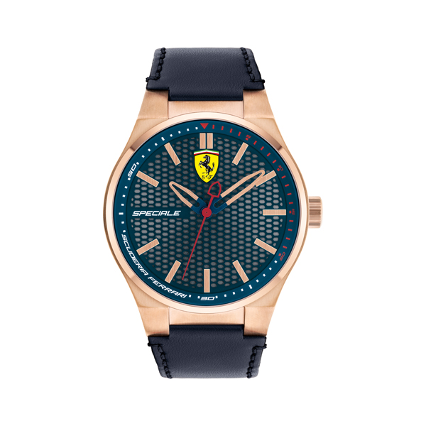 Scuderia Ferrari Gents Speciale Watch with Leather Strap Blue