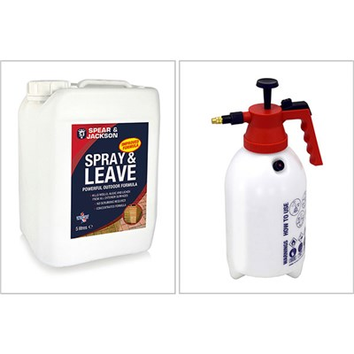 Spear and Jackson Spray and Leave 5L with 2L Sprayer