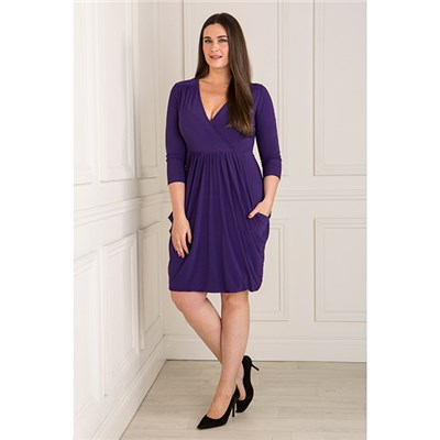 Nicole Wrap Front Drape Dress