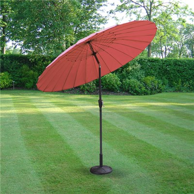 2.6m Aluminium Shanghai Parasol with Crank and Tilt