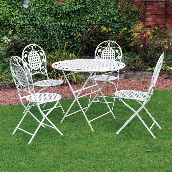 5 Piece Vintage Outdoor Dining Set No Colour