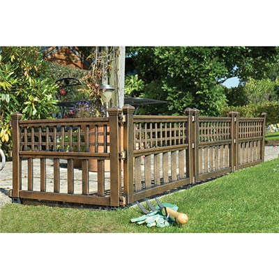 Pack of 4 Fence Panels - Bronze Effect