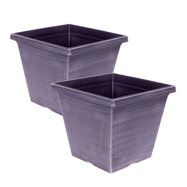 Pair of Chalk Effect Classic Estate Planters 35cm No Colour