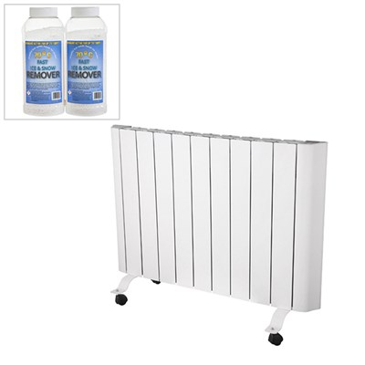 EEPC 1500w WiFi Controlled Ceramic Radiator with Ice and Snow Melt Twinpack