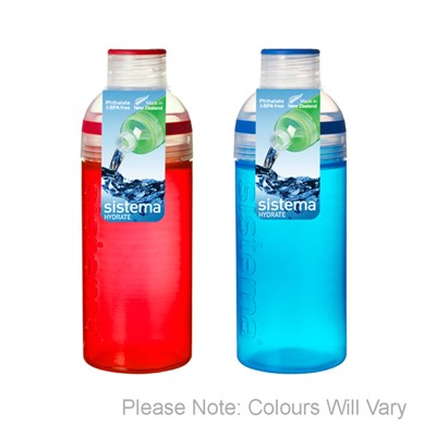 Pack of 2 Sistema 580ml Trio Bottles