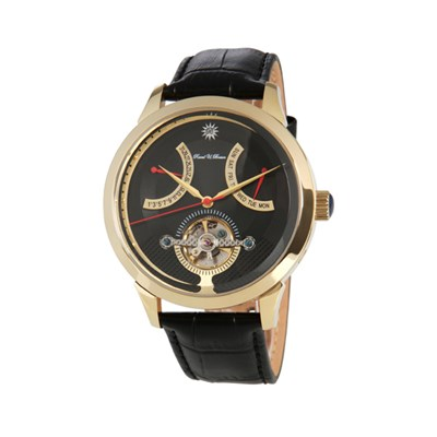 Raoul U.Braun Gents Automatic with Open Heart Detail and Genuine Leather Strap