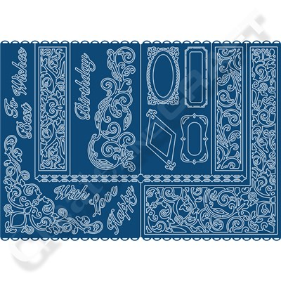 Tattered Lace Decorative Side Stepper Card