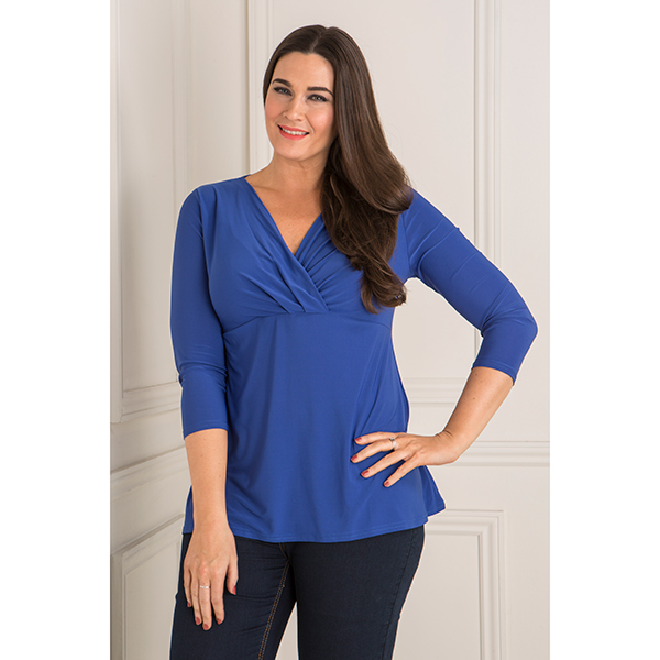 Styled By Wrap Top Cobalt