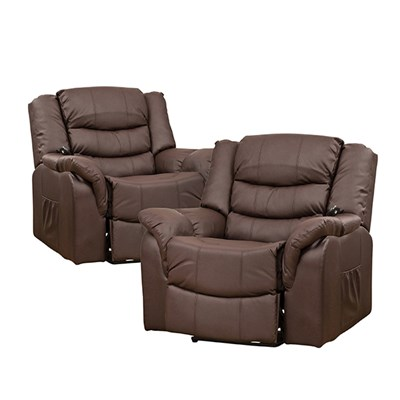 Twin Pack of Verona Rise and Recliner with Heat and Massage Chairs