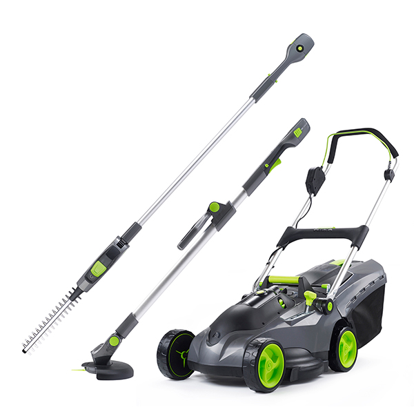 Image of Gtech Garden Tools Mega Bundle - Lawnmower, Grass Trimmer and Hedge Trimmer 399643