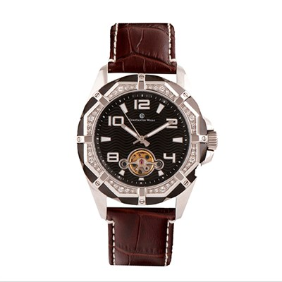 Constantin Weisz Gents Automatic with Swarovski Crystals and Genuine Leather Strap
