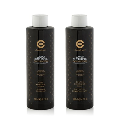 Elizabeth Grant Caviar Gold Edition Cleansing Milk 200ml and Toner 200ml