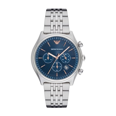 Emporio Armani Gents Chronograph Watch with Stainless Steel Bracelet