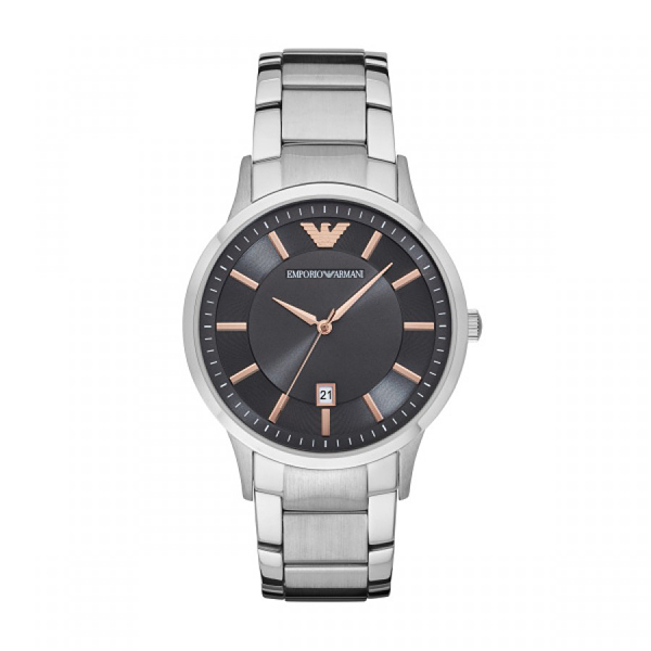 Emporio Armani Gents with Date Feature and Stainless Steel Bracelet 399800