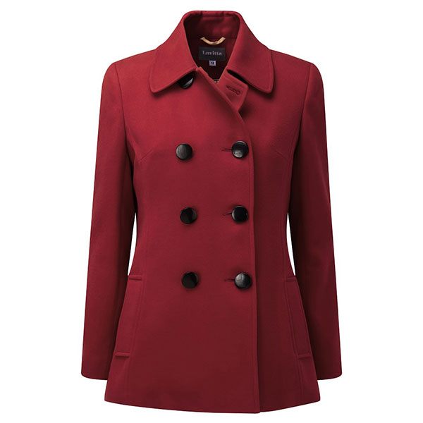 Lavitta Double Breasted 3/4 Coat 29in Brick