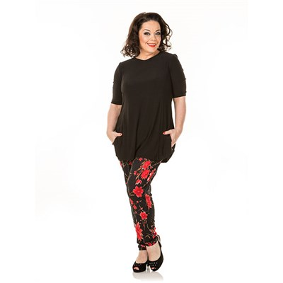 Just Be You Oriental Print Trouser