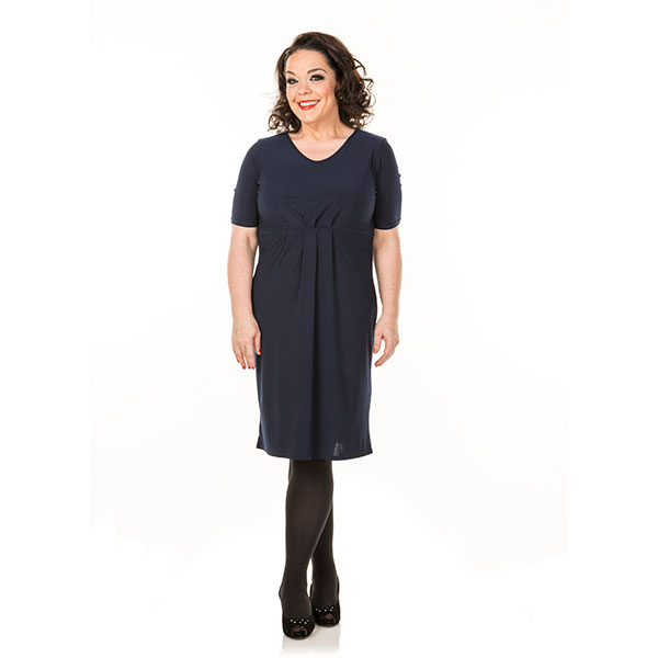 Just Be You Pleat Front Dress Navy