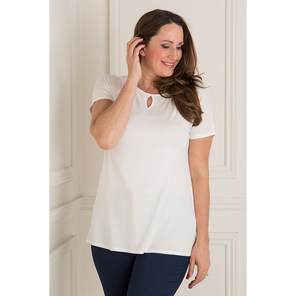 Emelia Cut Out Detail Top Ivory