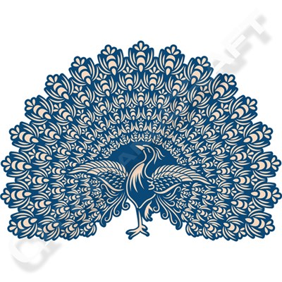 Tattered Lace Whitework Plumage Lacy Peacock Die