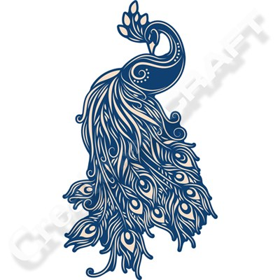 Tattered Lace Whitework Plumage Peacock Die