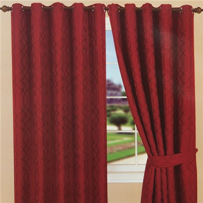 Kwai Jacquard Ring Top Plain Dye Lined Curtain (90 inches x)