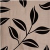 Bay Leaf Flocked Ring Top Lined Curtain (90 inches x)