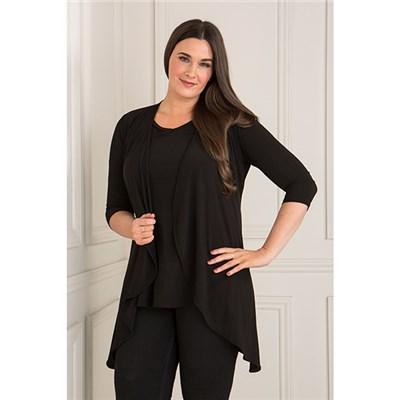 Nicole Soft Jacket And Two Way Short Sleeve Tunic Set