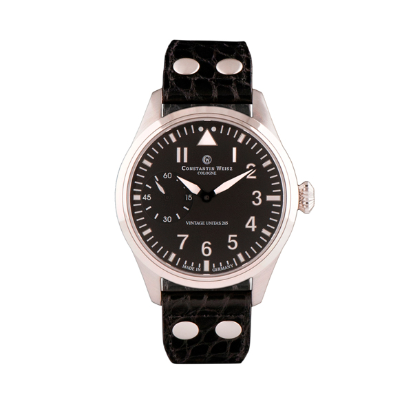 Constantin Weisz Gents Automatic Limited Edition Watch with Swiss Movement and Genuine Leather Strap Black