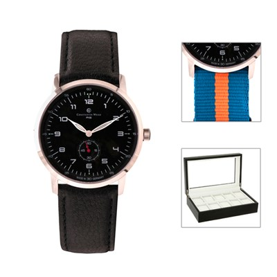 Constantin Weisz Gents Limited Edition Watch with Interchangeable Straps and FREE 10 Slot Box