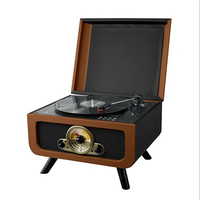 Steepletone Rico 3 Speed Record Player with Hidden CD Player, Radio & Encoding Functions