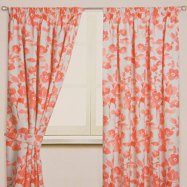Amelina 3 Inch Tape Header Lined Curtain (86 inches x)