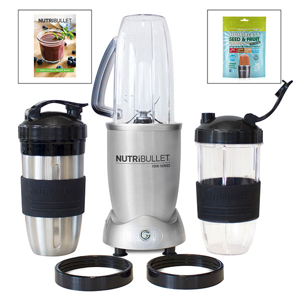 Image of NutriBullet 1200 Series 12 Piece Set with Nutriblast 170g Seed and Fruit Booster Mix 400339