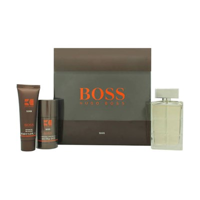 Hugo Boss Orange Man EDT Spray 100ml, Deo Stick 75ml and Shower Gel 50ml