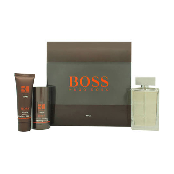 Hugo Boss Orange Man EDT Spray 100ml, Deo Stick 75ml and Shower Gel 50ml No Colour