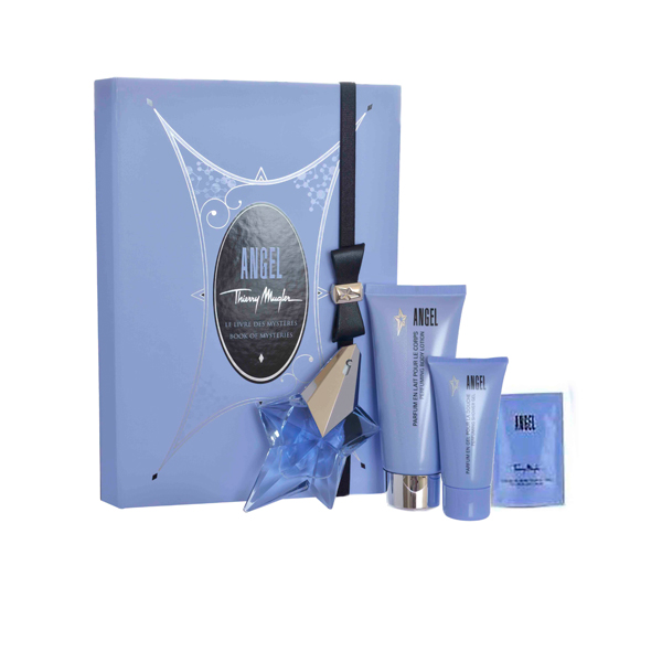 Thierry Angel EDP Spray 25ml Body Lotion 100ml Shower Gel 30ml and Body Cream 10ml 400500