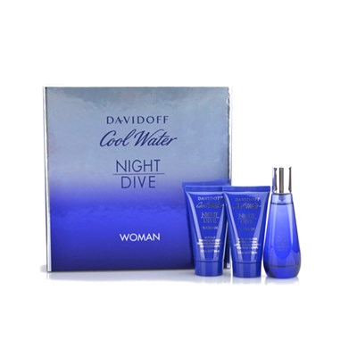 Davidoff Cool Water Night Dive EDT 50ml, Shower Gel and Body Lotion 50ml