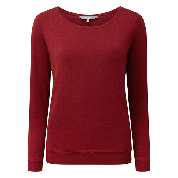 Lavitta Stretch Boat Neck Jumper 24.5in Brick