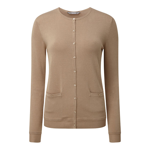 Lavitta Stretch Cardigan 24.5in Camel