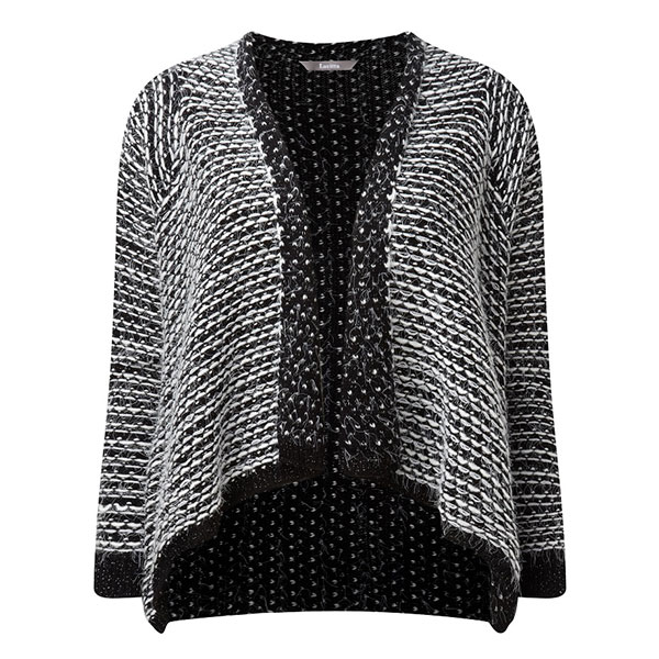 Lavitta Textured Waterfall E2E Cardigan 27in Black
