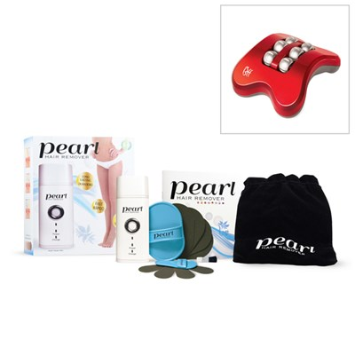 Pearl Hair Remover Set with Bonus Free Foot Massager