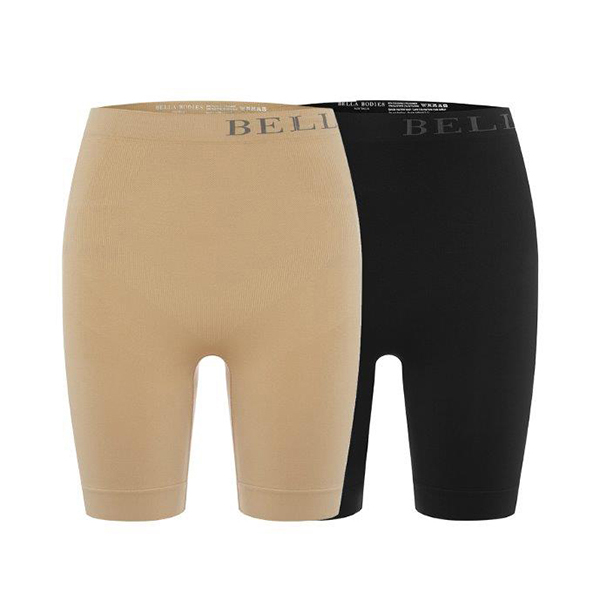 Bella Bodies Twin Pack Firming Shorts Black/Sand